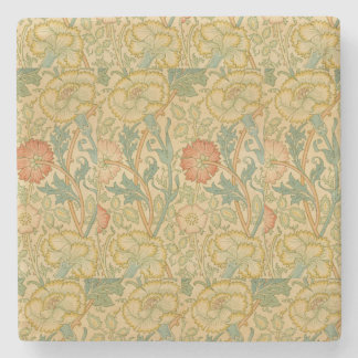 Vintage William Morris Pink and Rose Stone Coaster