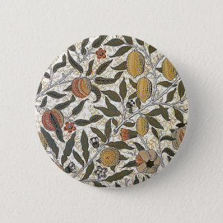 Vintage William Morris Pomegranate 2 Inch Round Button