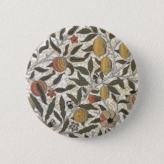 Vintage William Morris Pomegranate 2 Inch Round Button
