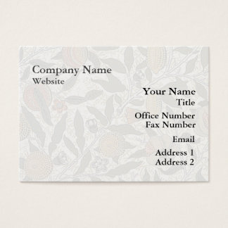Vintage William Morris Pomegranate Business Card