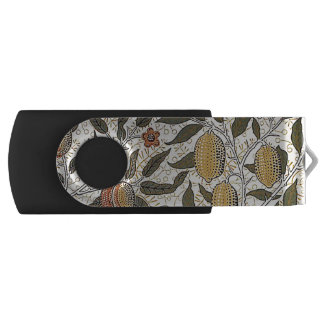 Vintage William Morris Pomegranate USB Flash Drive