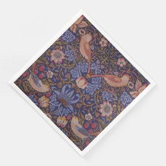 Vintage William Morris Strawberry Thief Paper Dinner Napkin