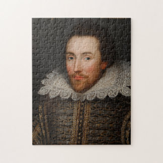Vintage William Shakespeare Portrait Jigsaw Puzzle