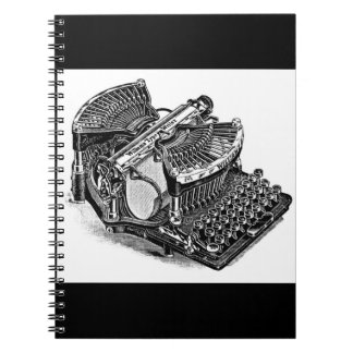 Vintage Williams Typewriter Spiral Notebook