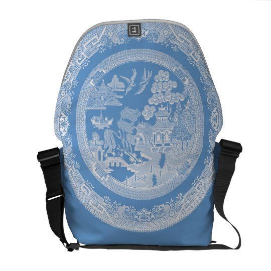Vintage Willow Pattern Messenger Bag