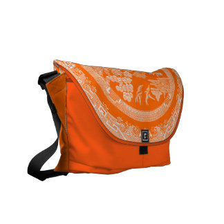Vintage Willow Pattern Messenger Bags