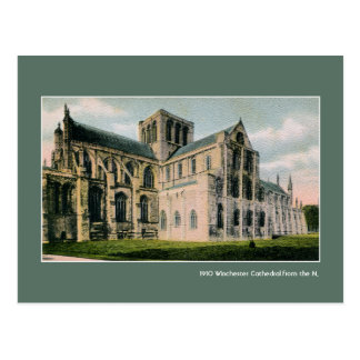 Vintage Winchester Cathedral from the North Postcard