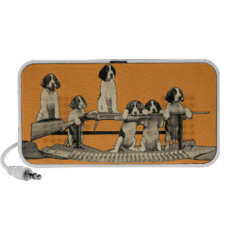 Vintage Winchester Firearm Dog Puppy Audio Speaker