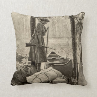 Vintage Winchester Firearm Gun Home Decor Pillow