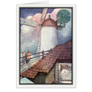 Vintage Windmill by Anne Anderson Card
