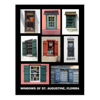 Vintage Windows of St. Augustine, Florida Postcard