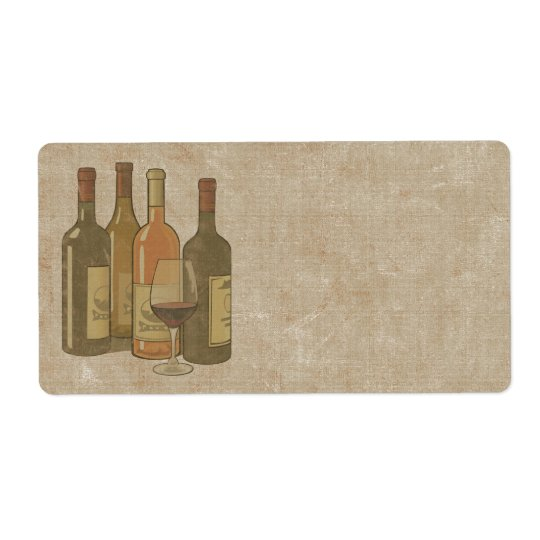 Vintage Wine Bottles Label