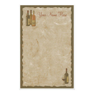 Vintage Wine Bottles Stationery