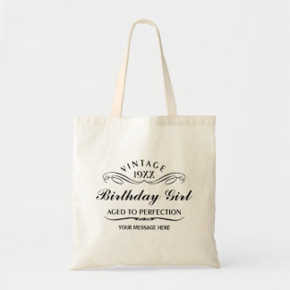 Vintage Wine Person Funny Birthday Gift Bag