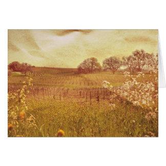 Vintage Winery Greeting Card