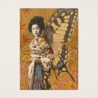 Vintage Winged Geisha ACEO Business Card