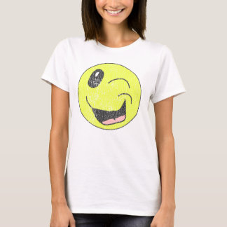 Vintage Winking Smiley Face Shirt