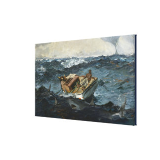 Vintage Winslow Homer The Gulf Stream Canvas Print