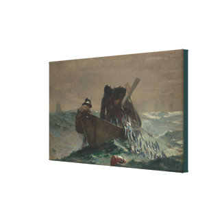 Vintage Winslow Homer The Herring Net Canvas Print