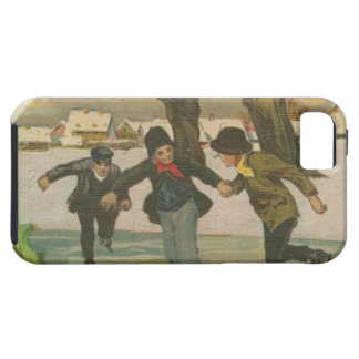 Vintage Winter Ice Skating iPhone 5 Case