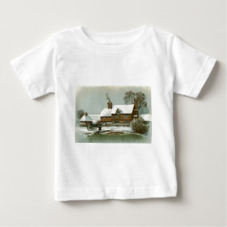 VIntage Winter Scene Baby T-Shirt