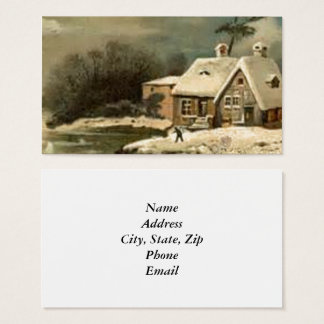 Vintage Winter Scene Business Card