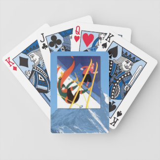 Vintage Winter Sports - A bit of a fall Bicycle Playing Cards