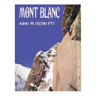Vintage Winter Sports, Climbing Mt Blanc Postcard