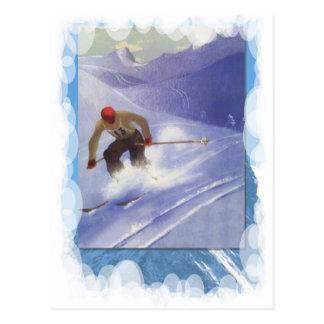 Vintage Winter Sports - Downhill race Postcard