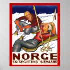 Vintage Winter sports, Norway, Homeland Ski sport Poster