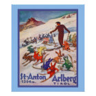 Vintage winter sports poster