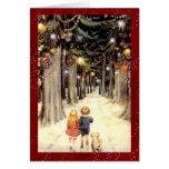 Vintage Winter Wonderland Christmas Cards