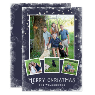 Vintage Winter Wonderland Christmas Photo Collage Card