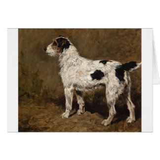 Vintage - Wire Haired Fox Terrier Dog, Card