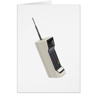 Vintage Wireless Cellular Phone Greeting Card