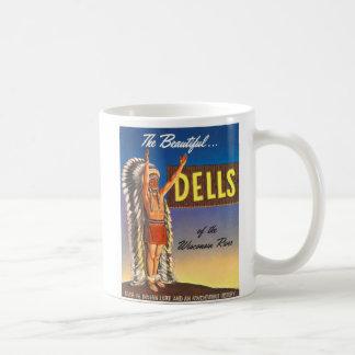Vintage Wisconsin Dells 'Chief' Ad Art Kitsch Coffee Mug