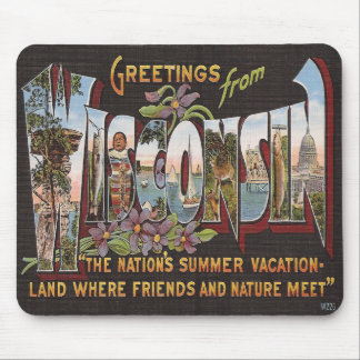 Vintage Wisconsin Mouse Pad