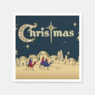 Vintage Wisemen/Desert Religious Christmas Paper Napkins