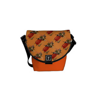 Vintage Witch Halloween Graphic Courier Bags