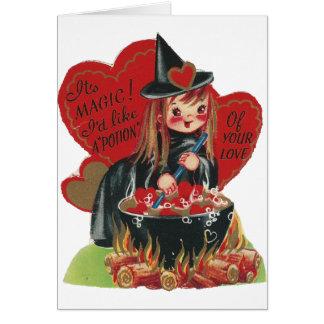 """Vintage """"Witch"""" Valentine Card"""