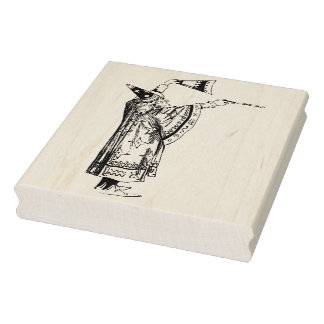 Vintage Wizard Conjuring Magic Rubber Art Stamp
