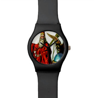 Vintage Wizard Merlin Owl Magician Art Watch