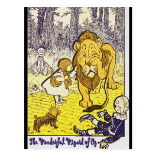 Vintage Wizard of Oz 1st Edition Print Postcard