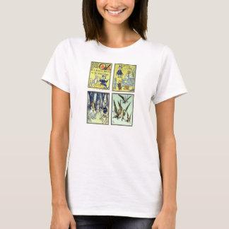 Vintage Wizard of Oz, 4 Fairy Tale Scenes T-Shirt