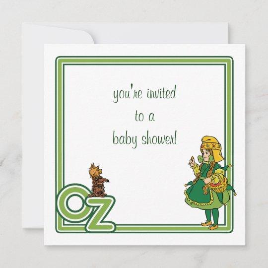 Vintage Wizard of Oz Baby Shower Invitation