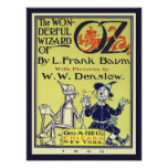 Vintage Wizard of Oz Book Cover Art, Title Page Poster