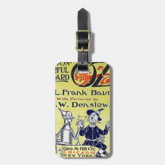 Vintage Wizard of Oz Book Cover Bag Tag