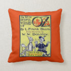 Vintage Wizard of Oz Book Cover Throw Pillow