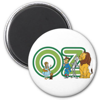Vintage Wizard of Oz Characters and Text Letters Magnet