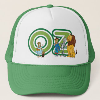 Vintage Wizard of Oz Characters and Text Letters Trucker Hat